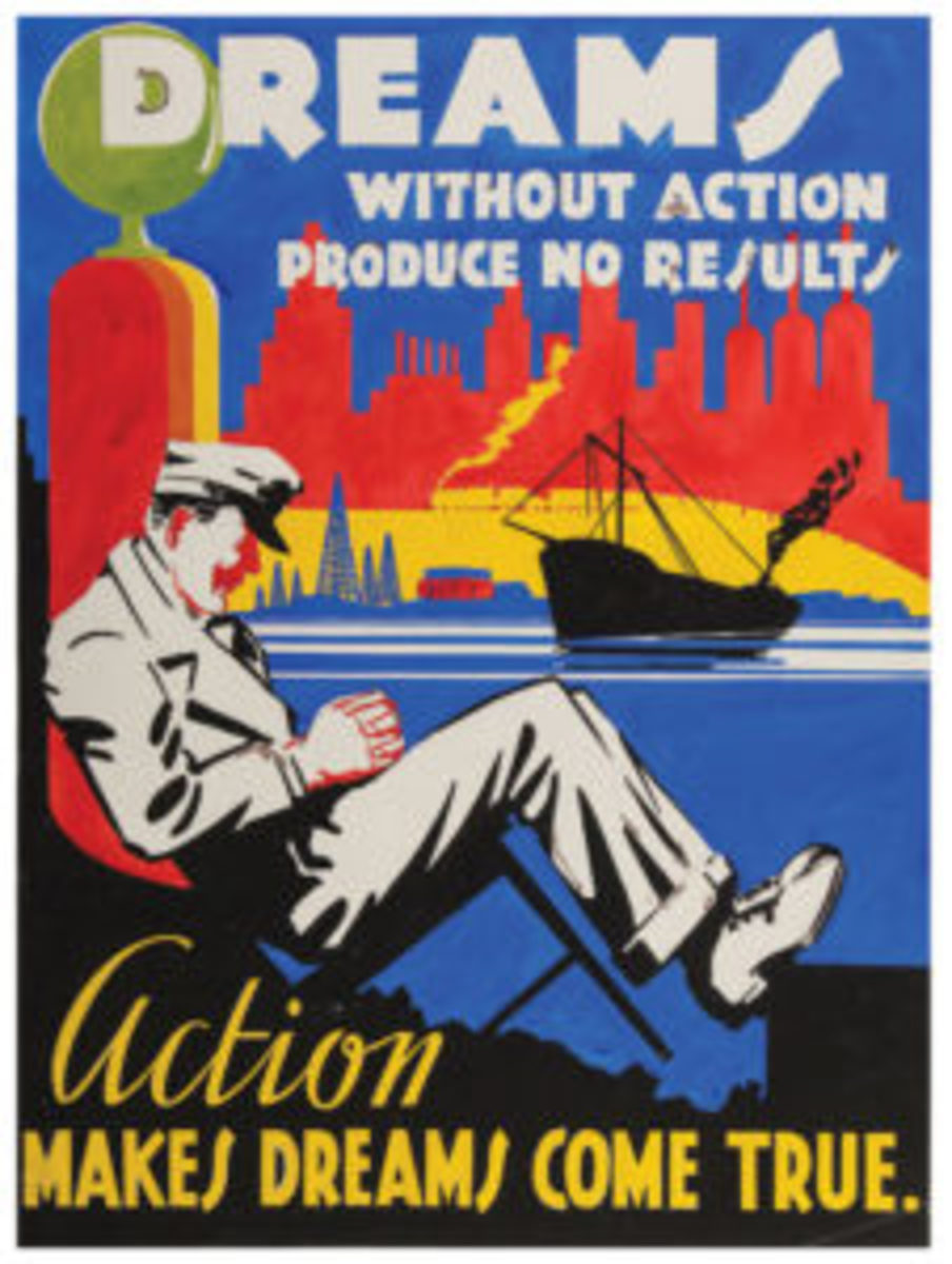 1930s WPA work-incentive poster