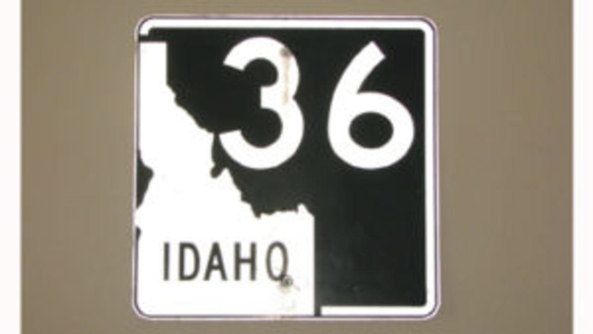 Idaho Highway 36 vintage road/traffic sign