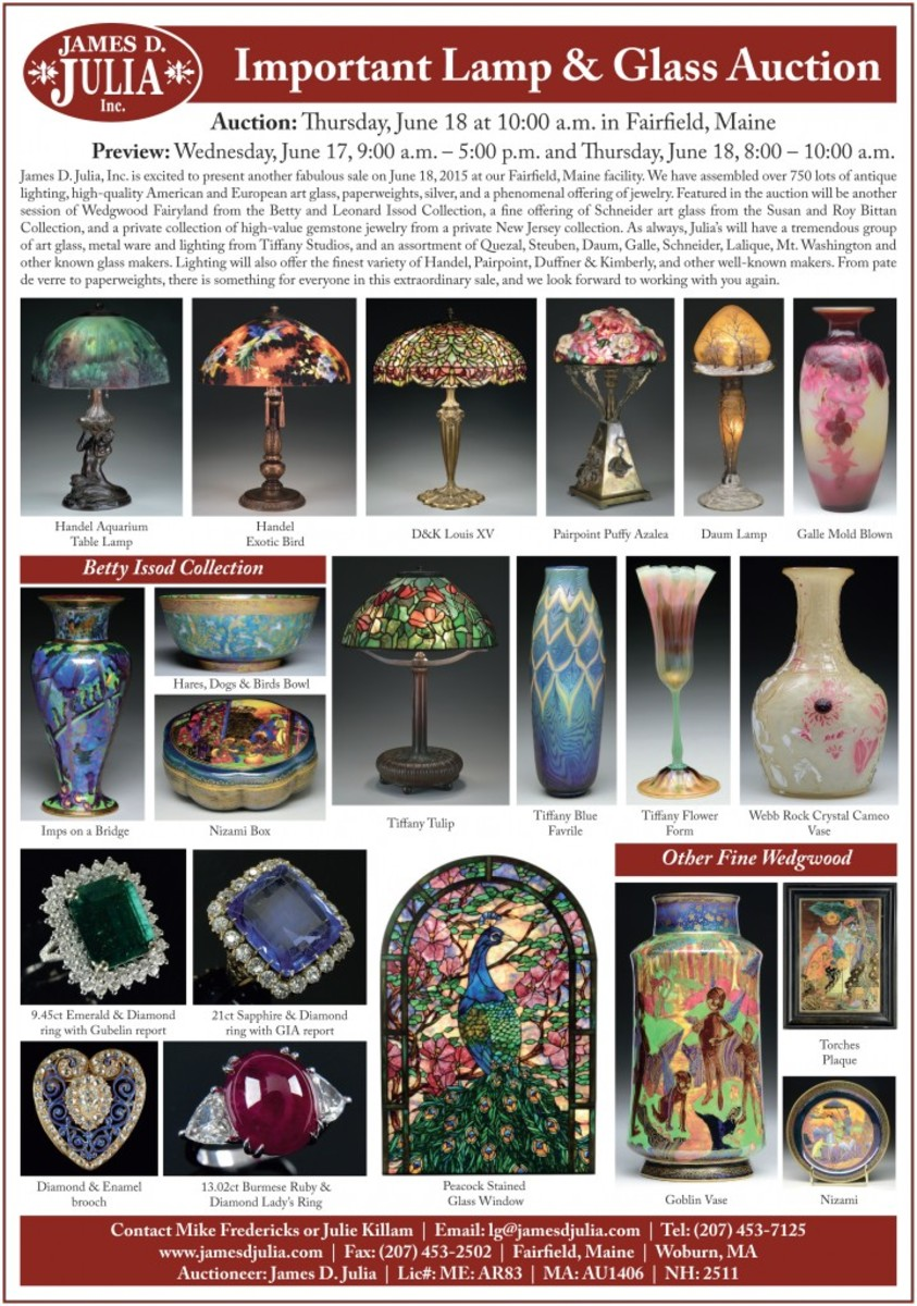 Lamp & Glass auction