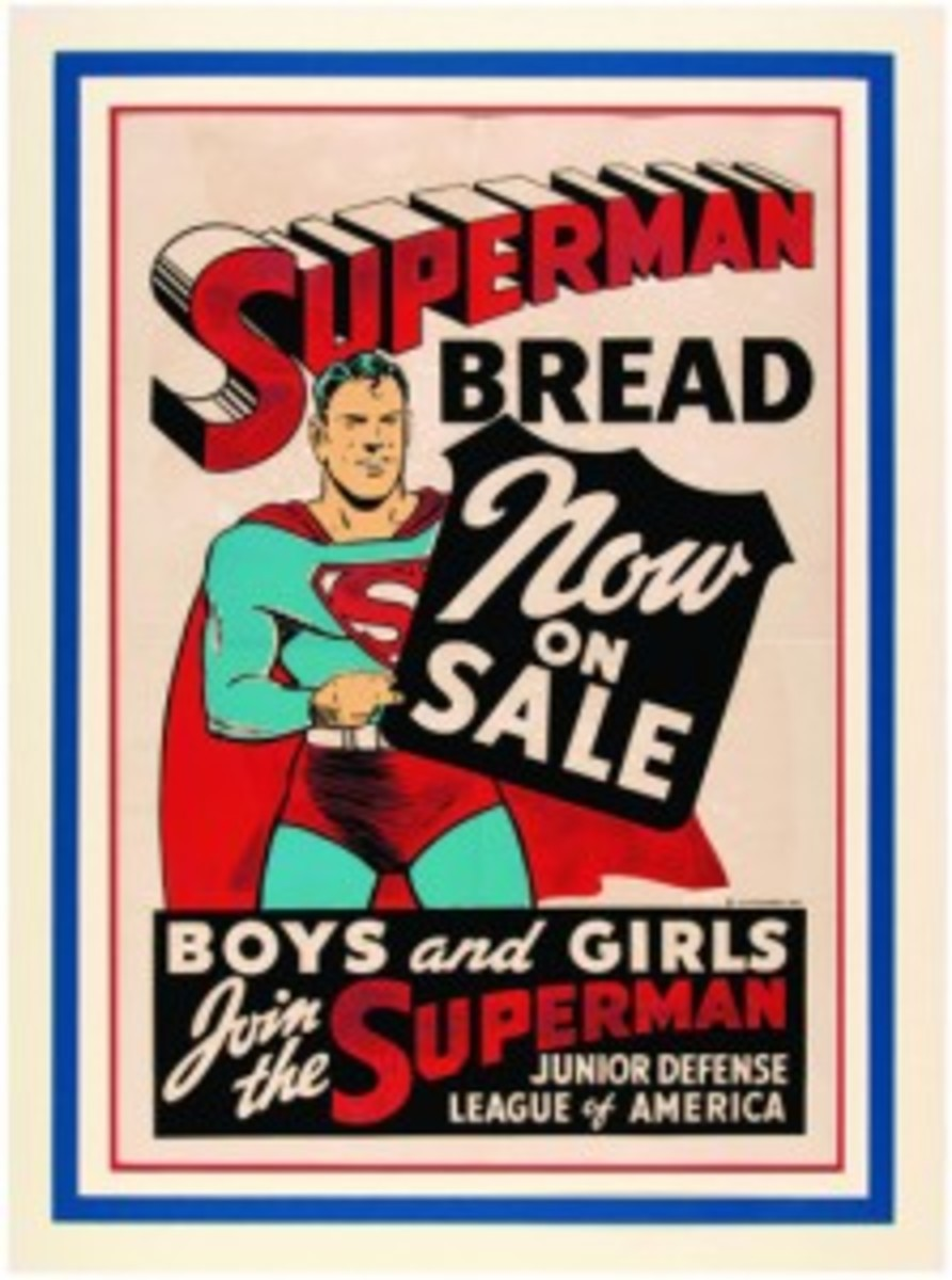 Superman Bread sign
