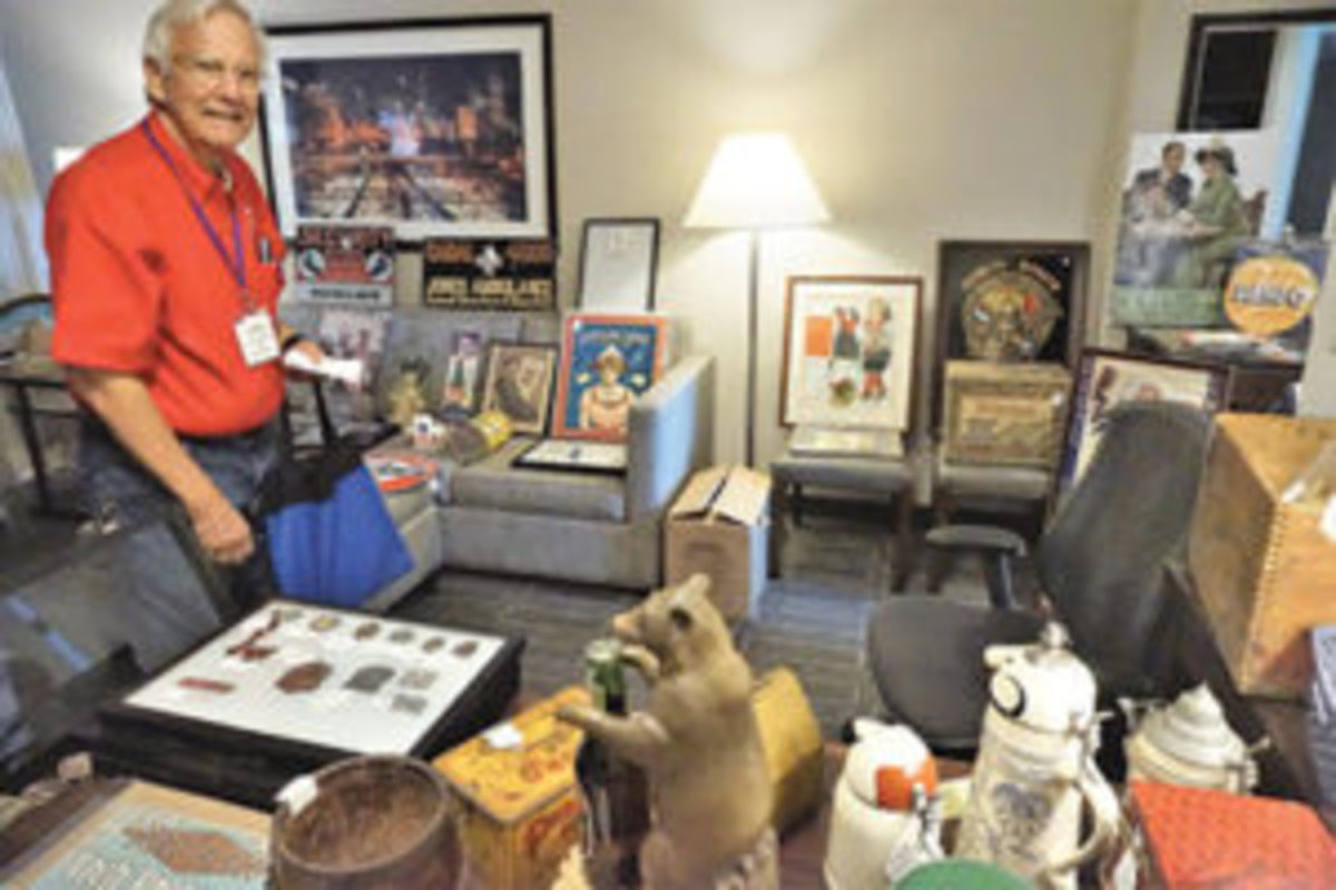 AAAA conventioneers fill their rooms with items for show and sale.
