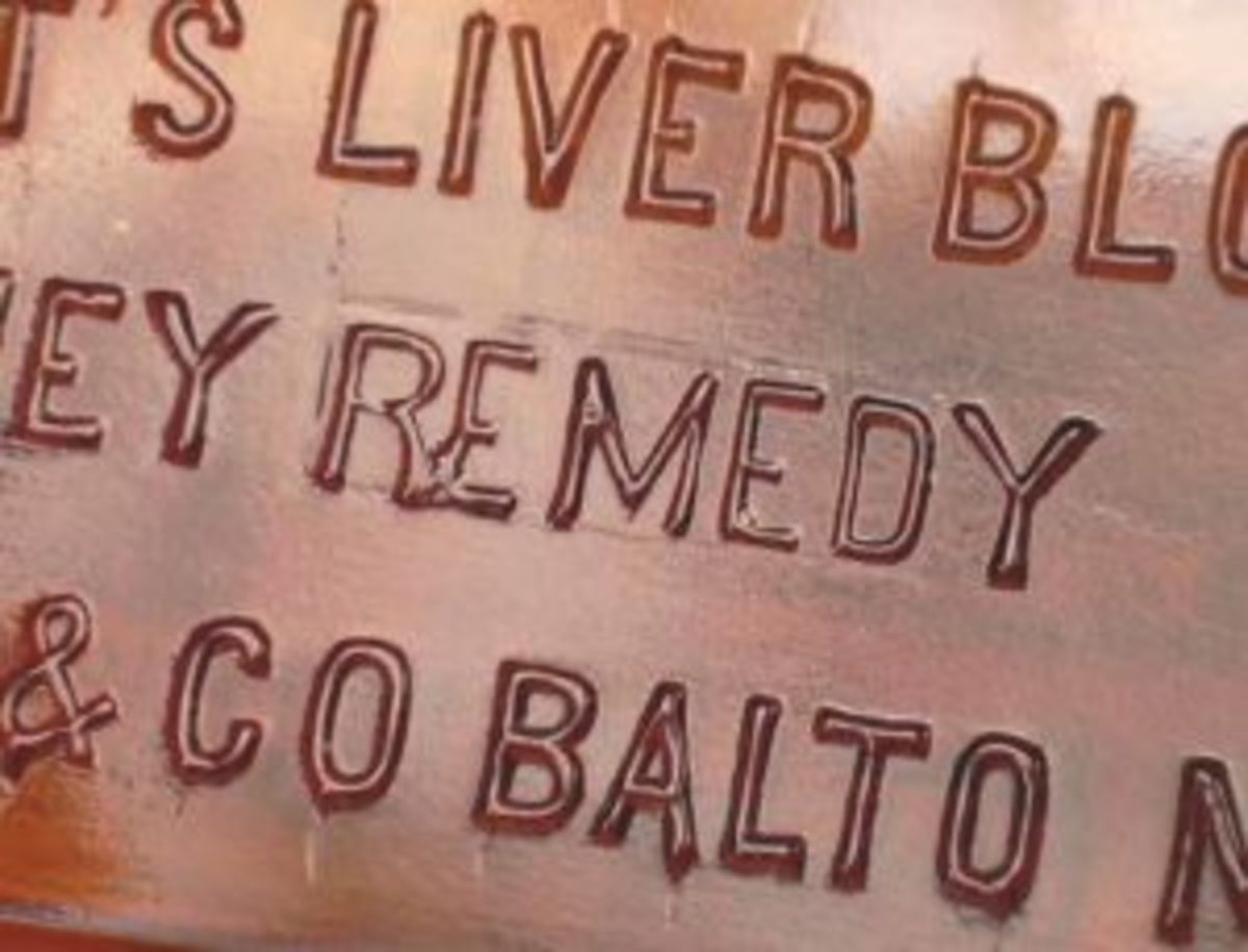 """Figure 5: The outline around the word """"Remedy"""" (which replaced the word """"Cure"""" in the embossing pattern) can be seen above."""