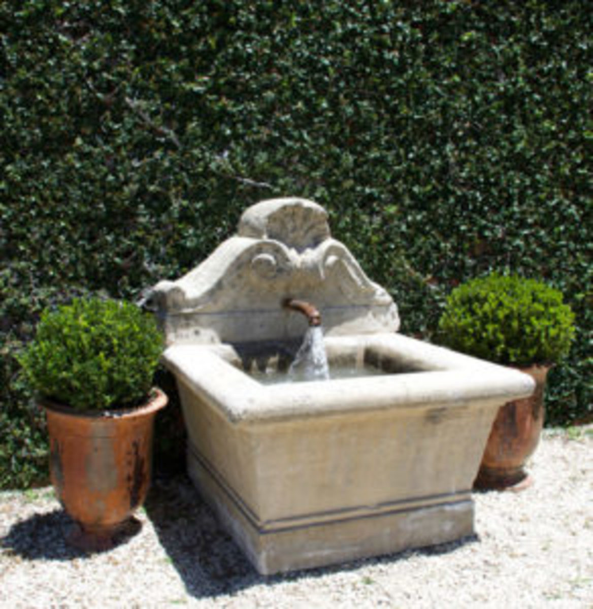 outdoor antiques french fountain