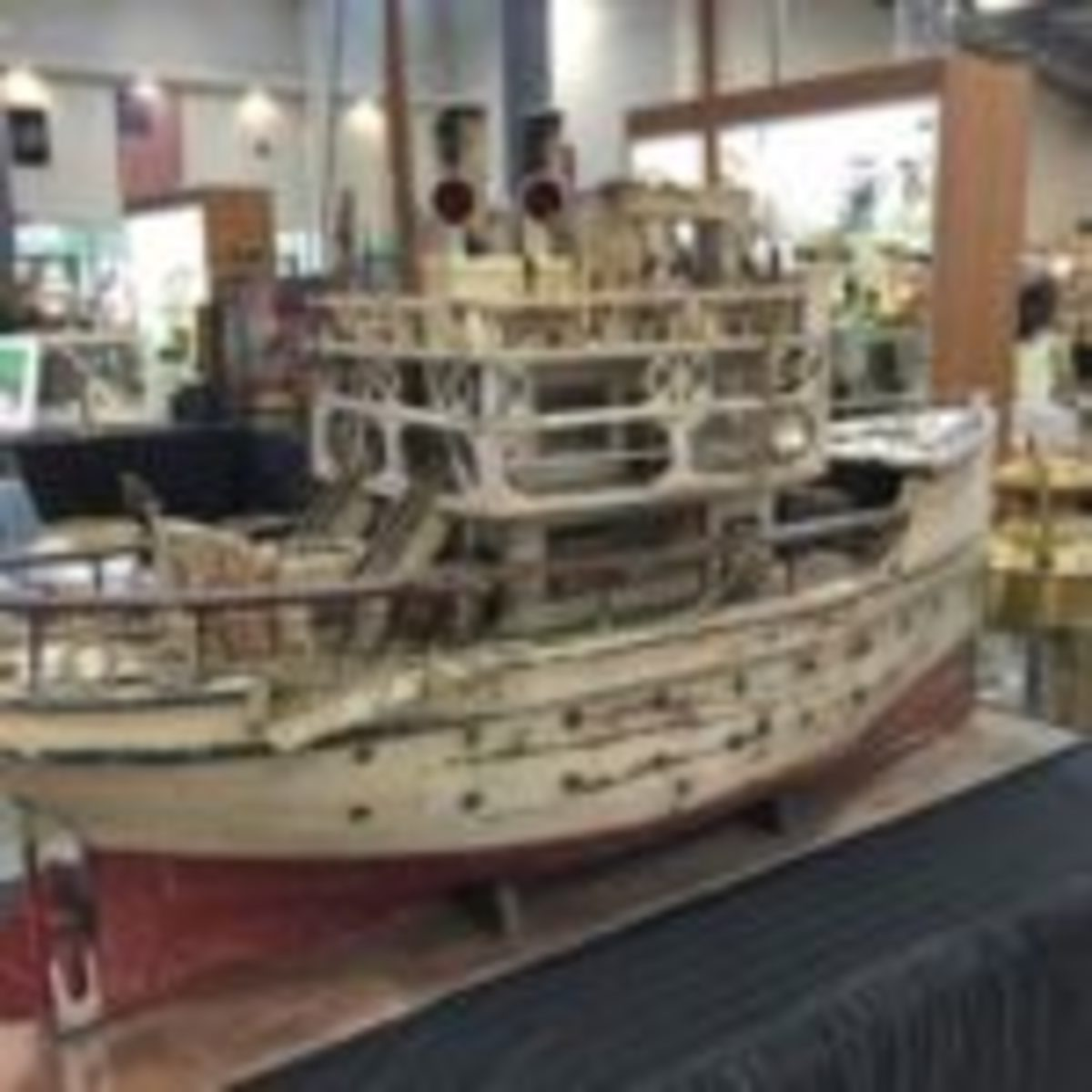 The epitome of vintage folk-art was this highly detailed, 3-foot-tall boat that sold early in the show.