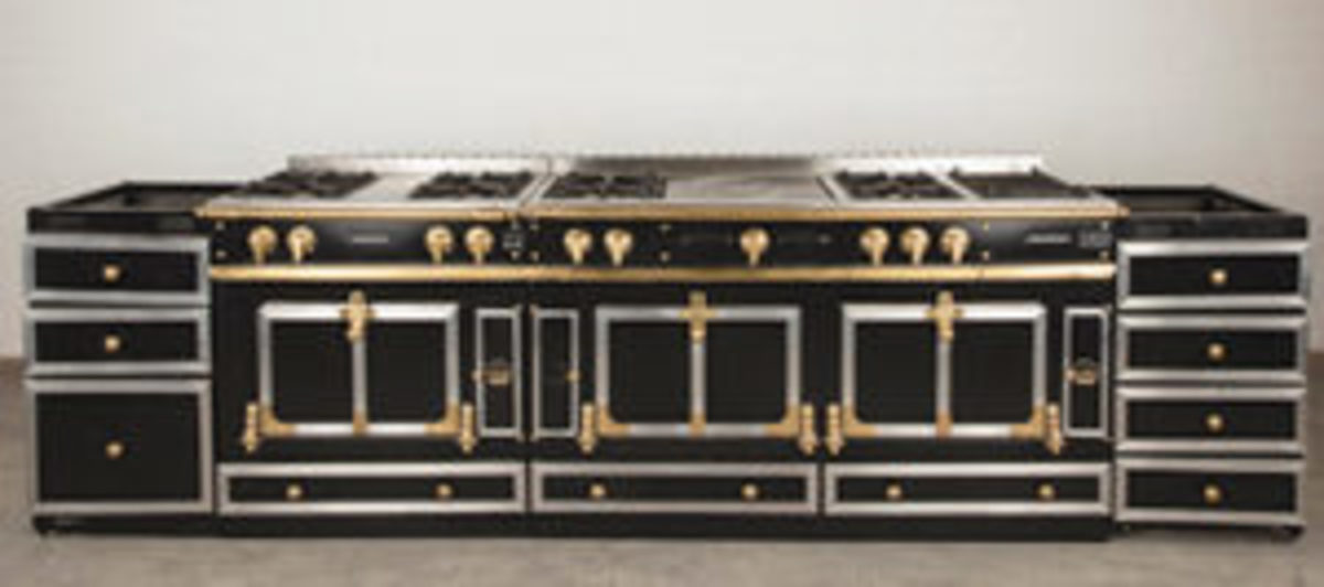 La Cornue Grand Palais Château Series custom eight-burner range, $25,000.