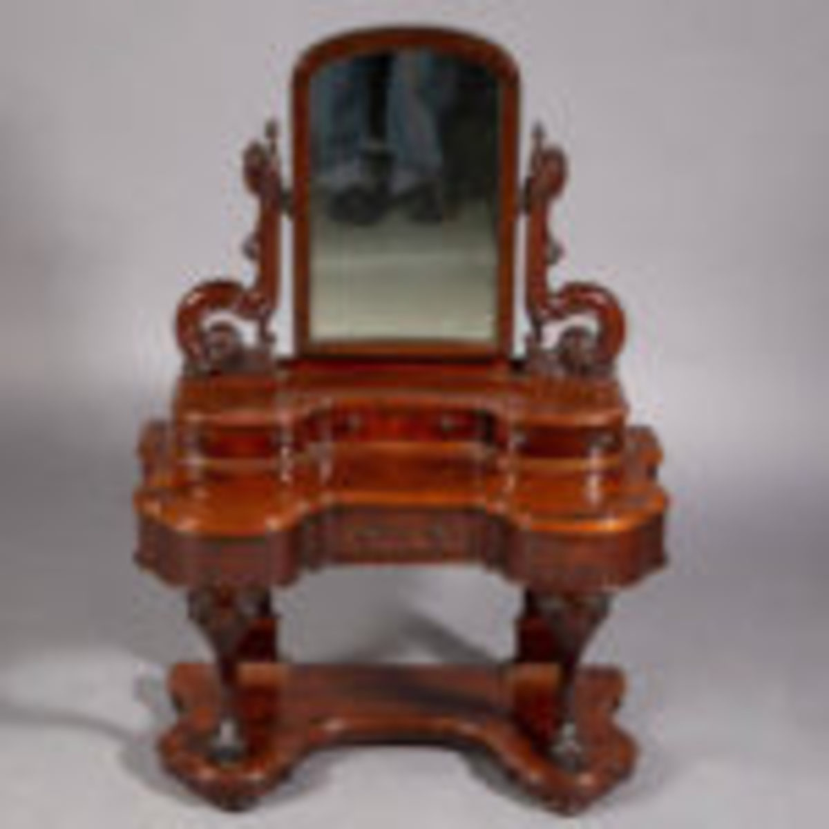 Victorian mahogany child's / doll's dressing table