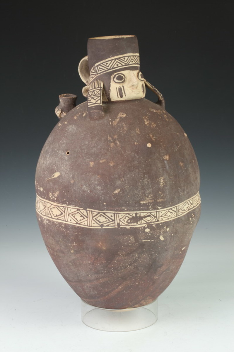 Chancay pottery water carrier