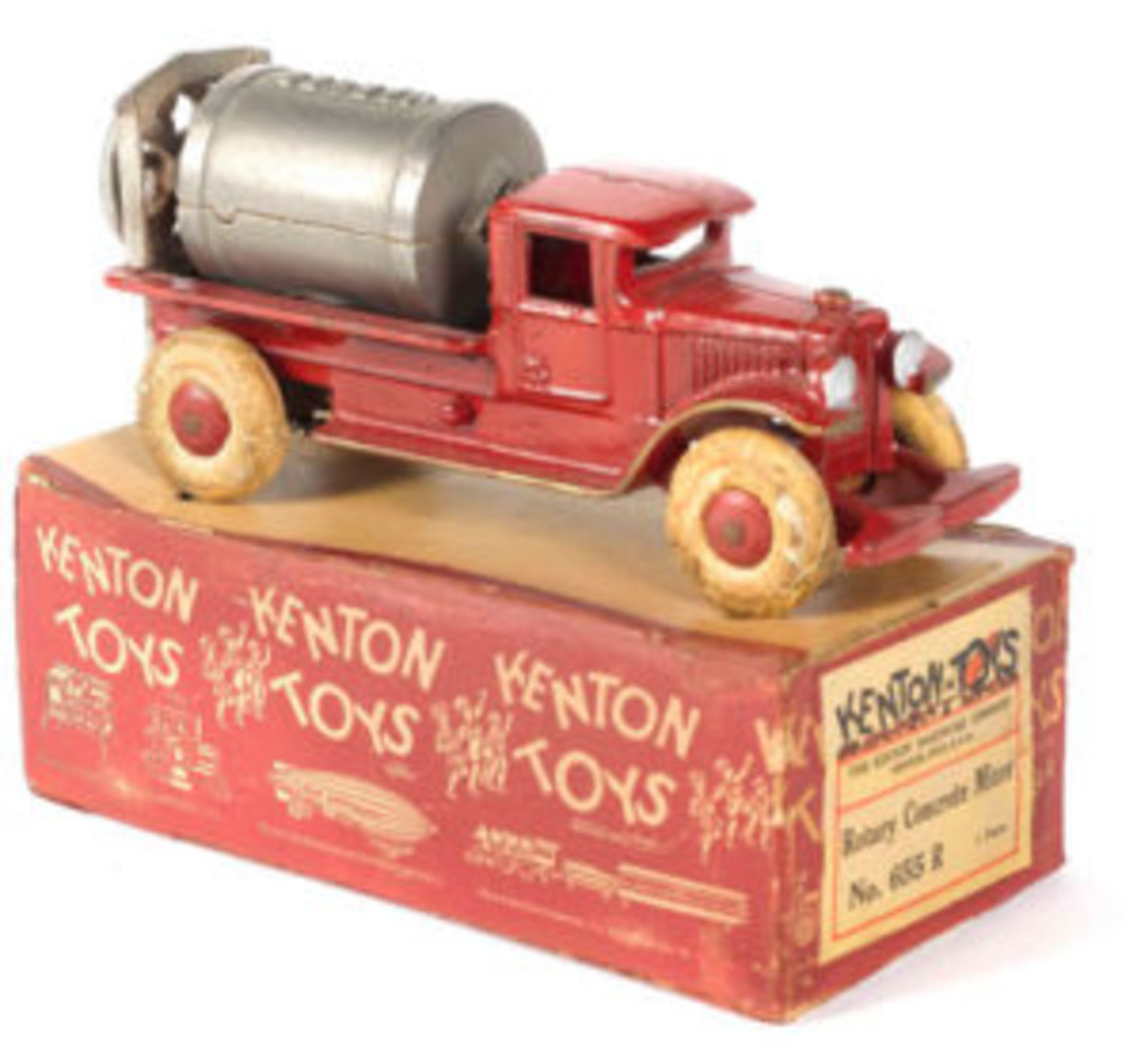 Cast-iron cement mixer toy