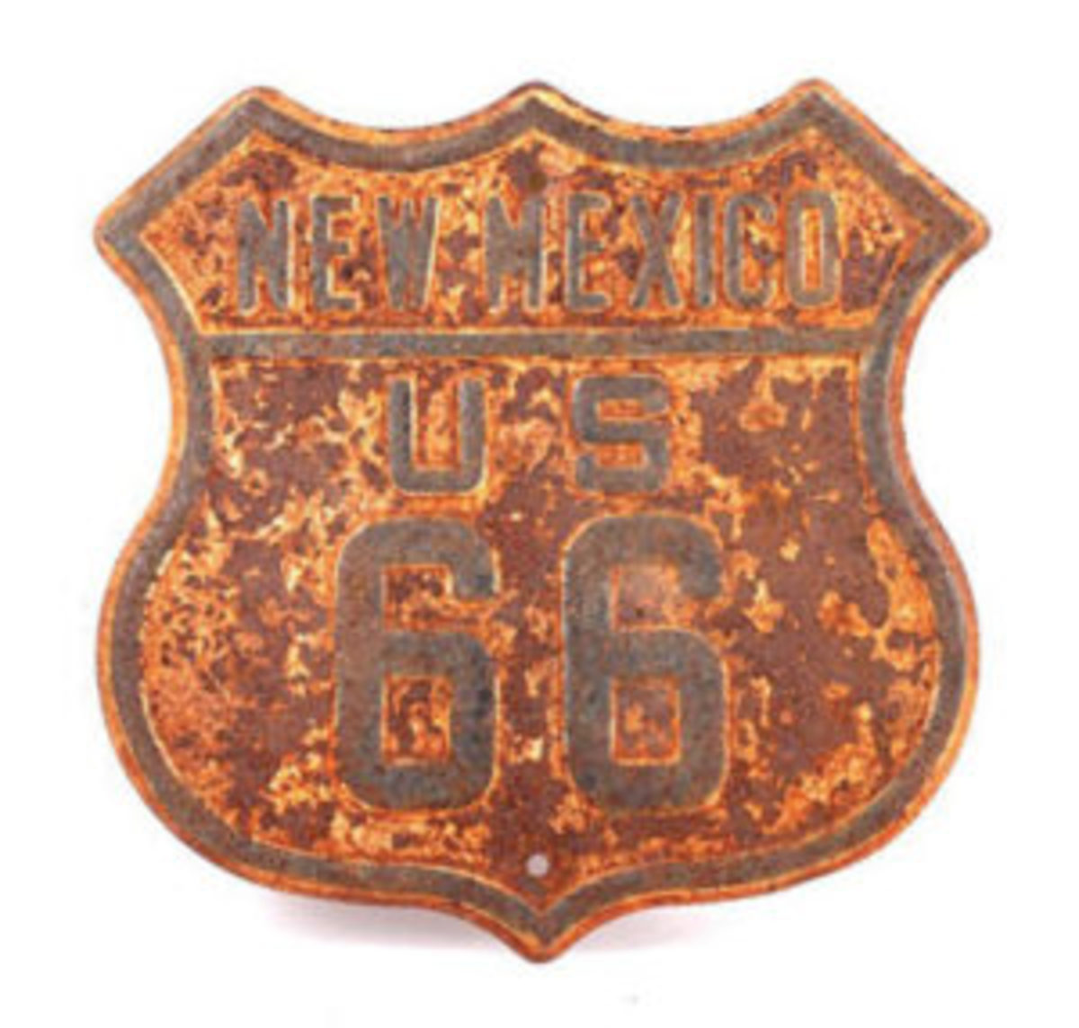 Rusted Route 66 sign