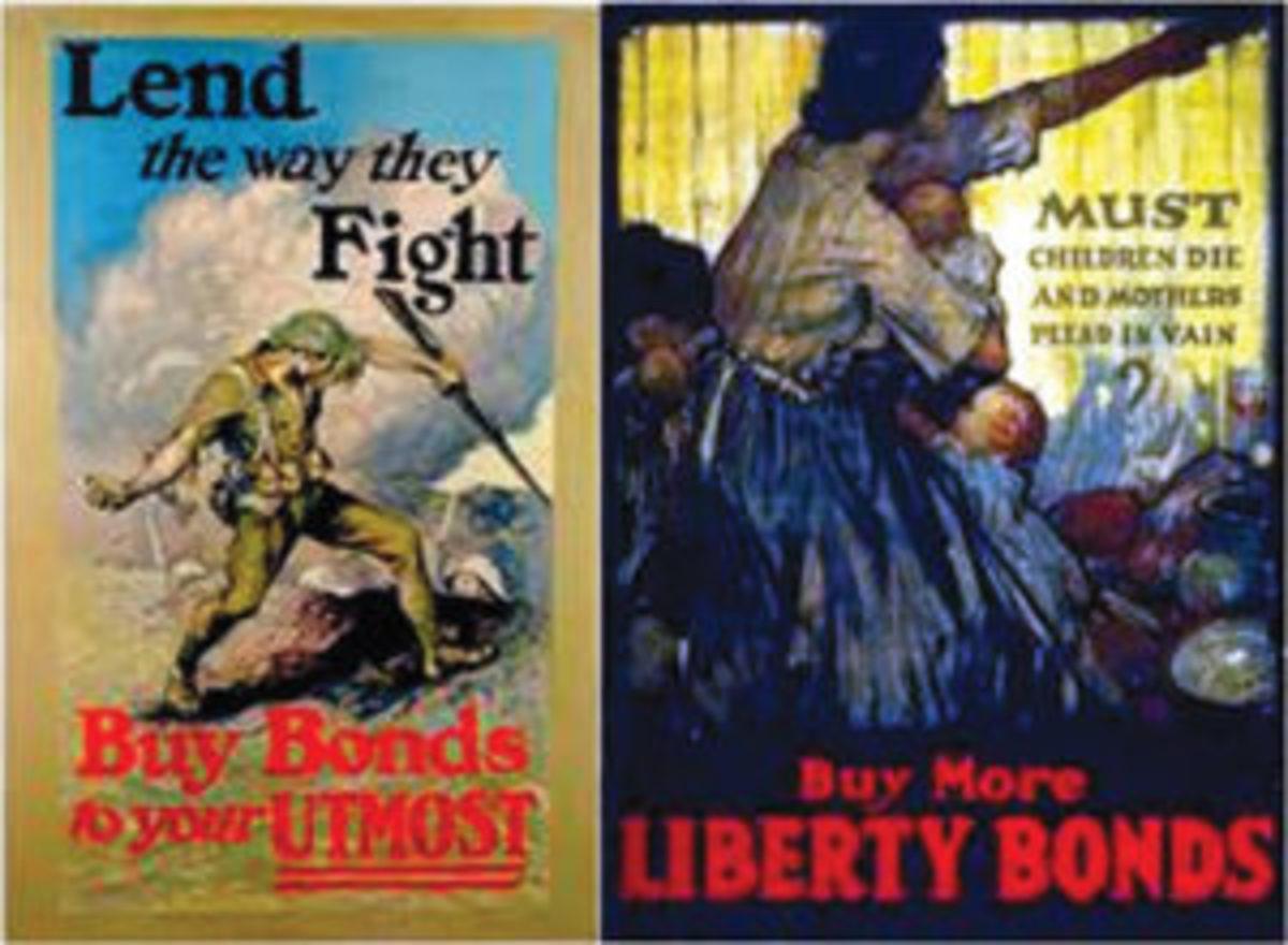 WWI Liberty Bonds posters.