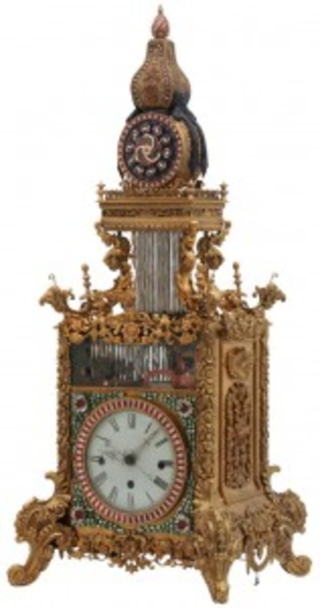 triple fusee bracket clock