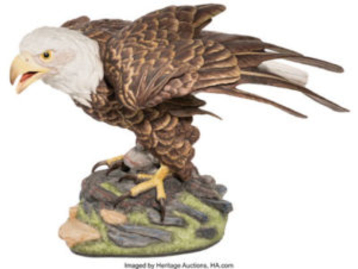Boehm porcelain eagle