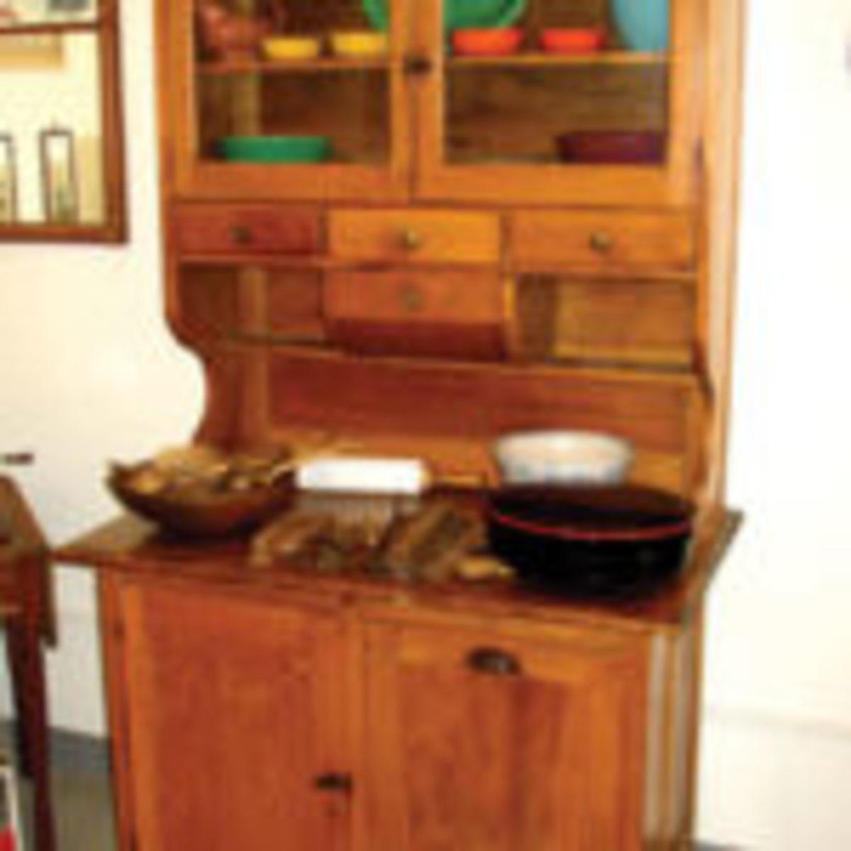 Hoosier style cabinet, 1910.