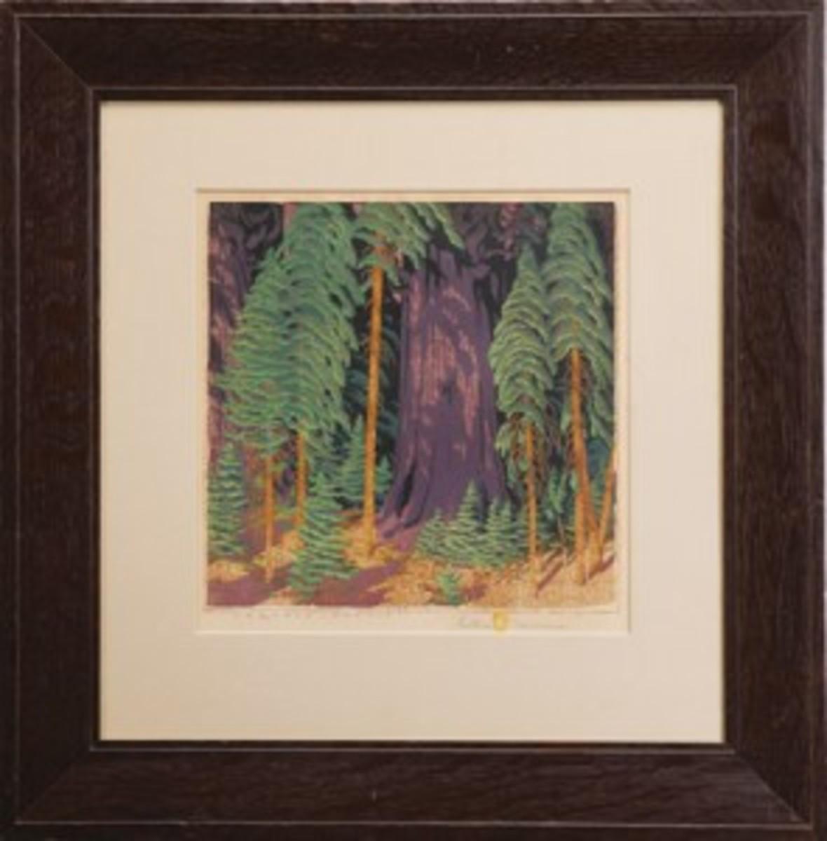 Baumann wood block print