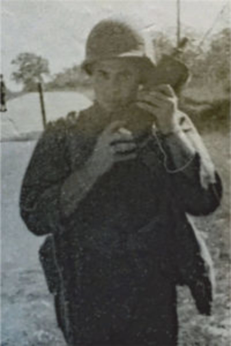 Neil Gallensky's dad early years with hand-held radio