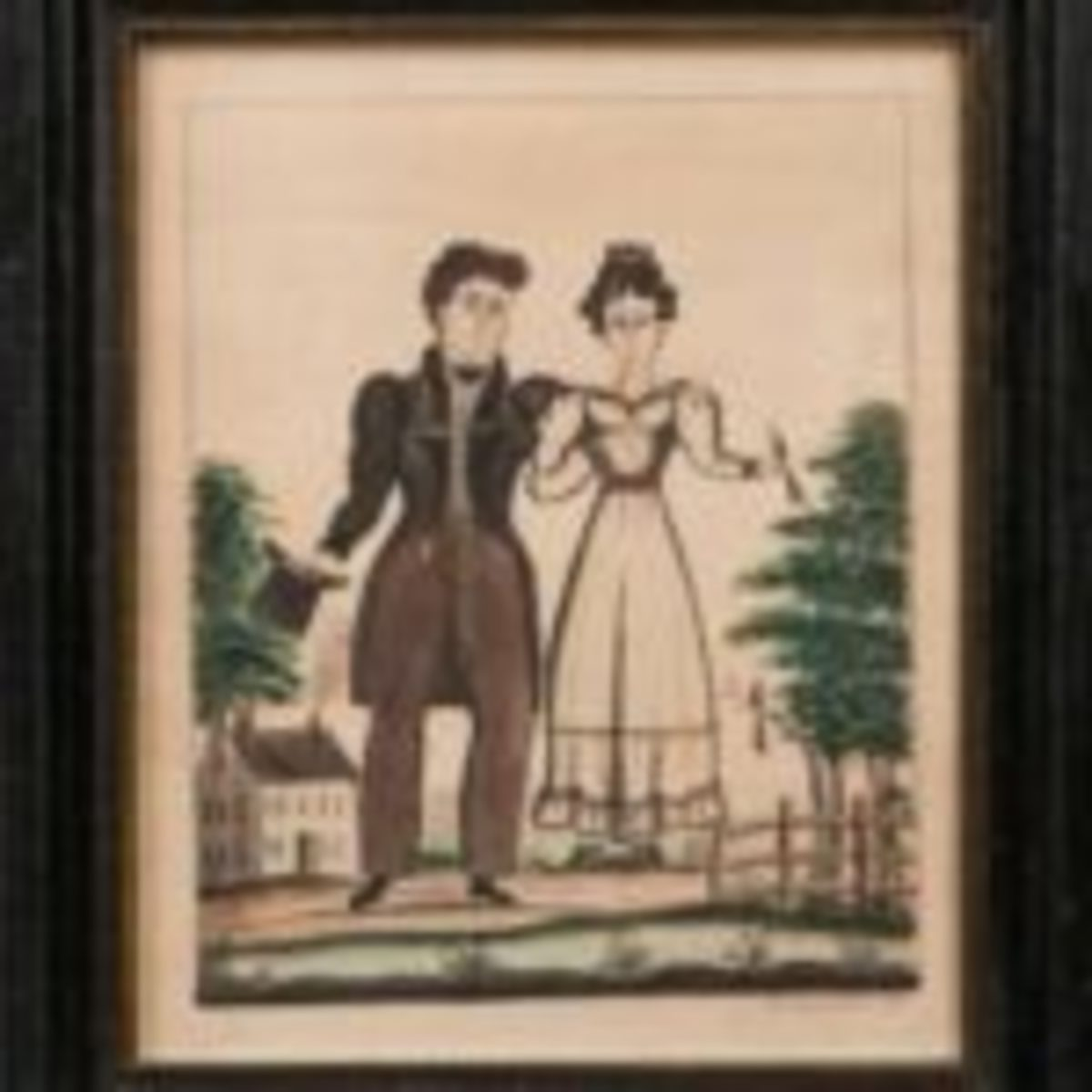 Americana Portrait of a Man and Wife