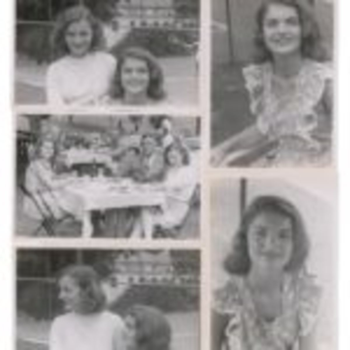 Five original vintage circa 1945 glossy candid photos of a teenaged Jacqueline Bouvier. Courtesy of RR Auction
