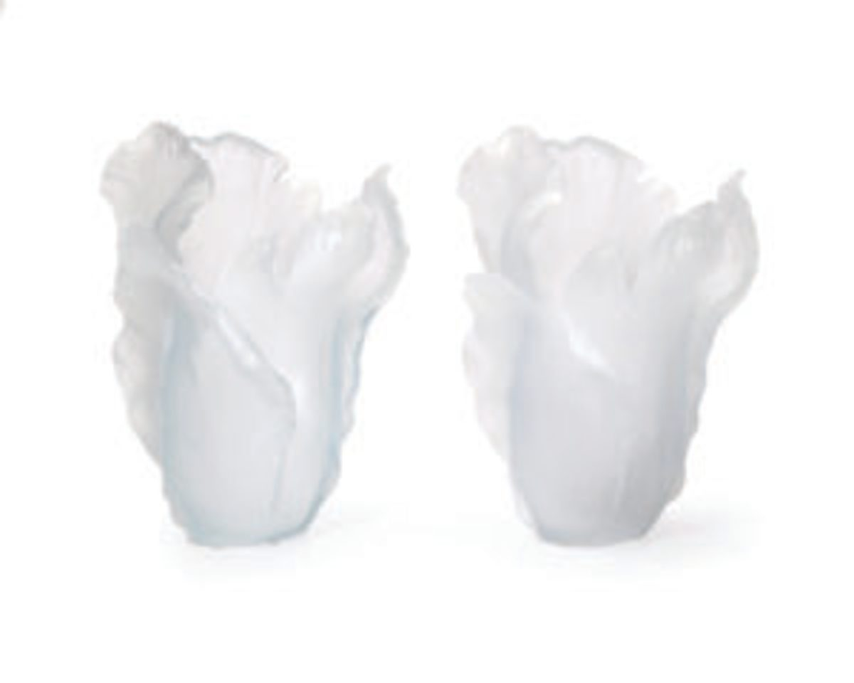Daum frosted vases