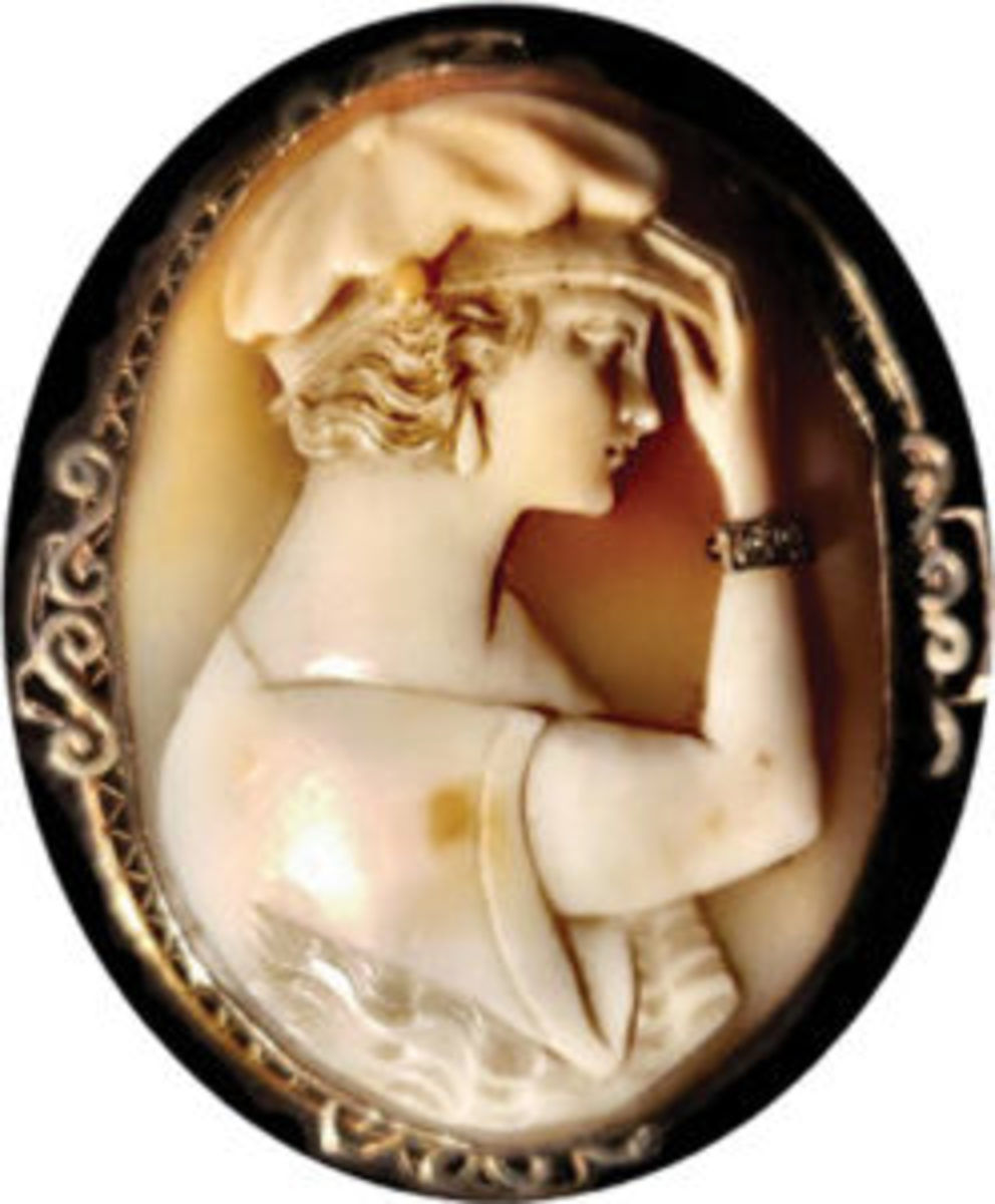 Cameo of Helen Wills Moody, female tennis player