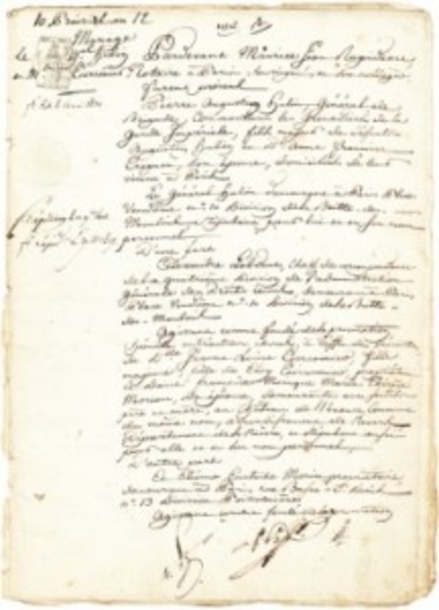 napoleon josephine marriage doc