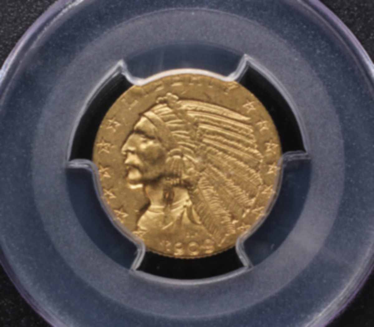 Gold Indian head