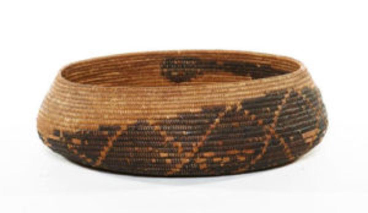 Polychrome snake basket