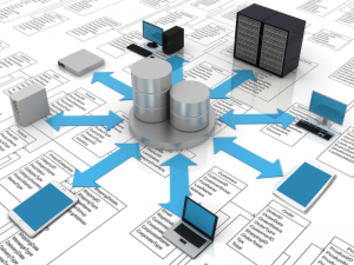 Database and devices illustration