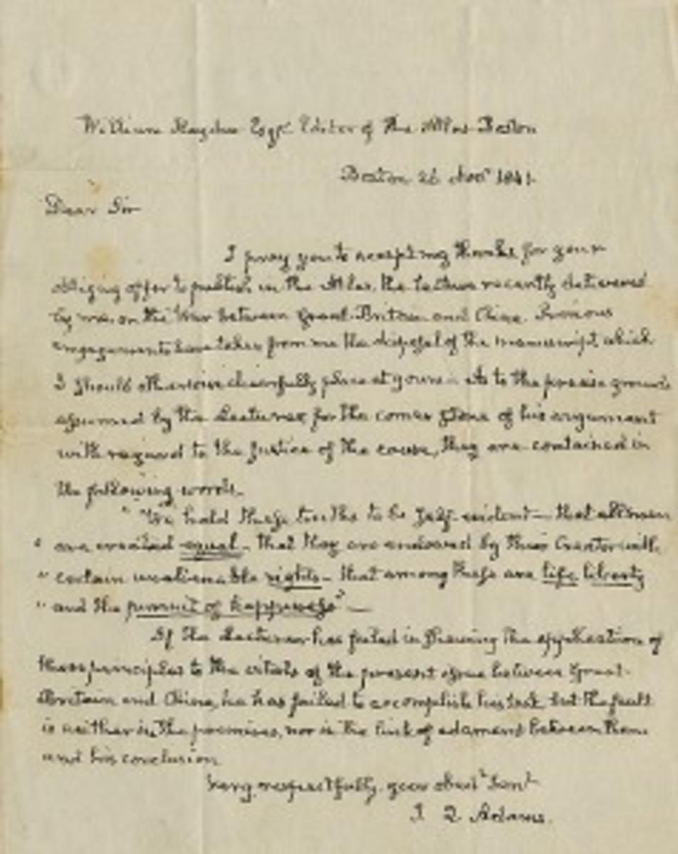 Autographed letter of John Adams