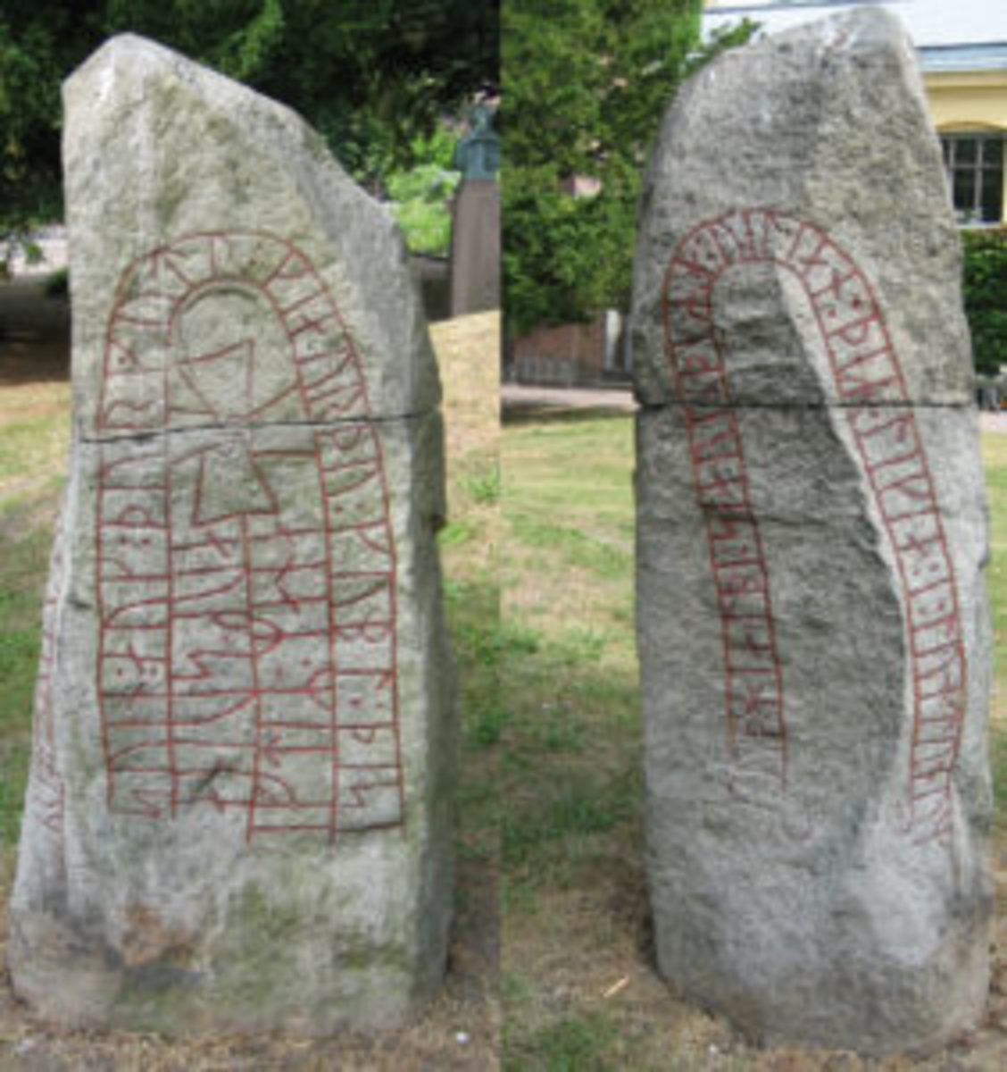 The Valleberga Runestone, Sweden, reports that two Vikings had died in London. Photo by Hedning - Own work, CC BY-SA 3.0,