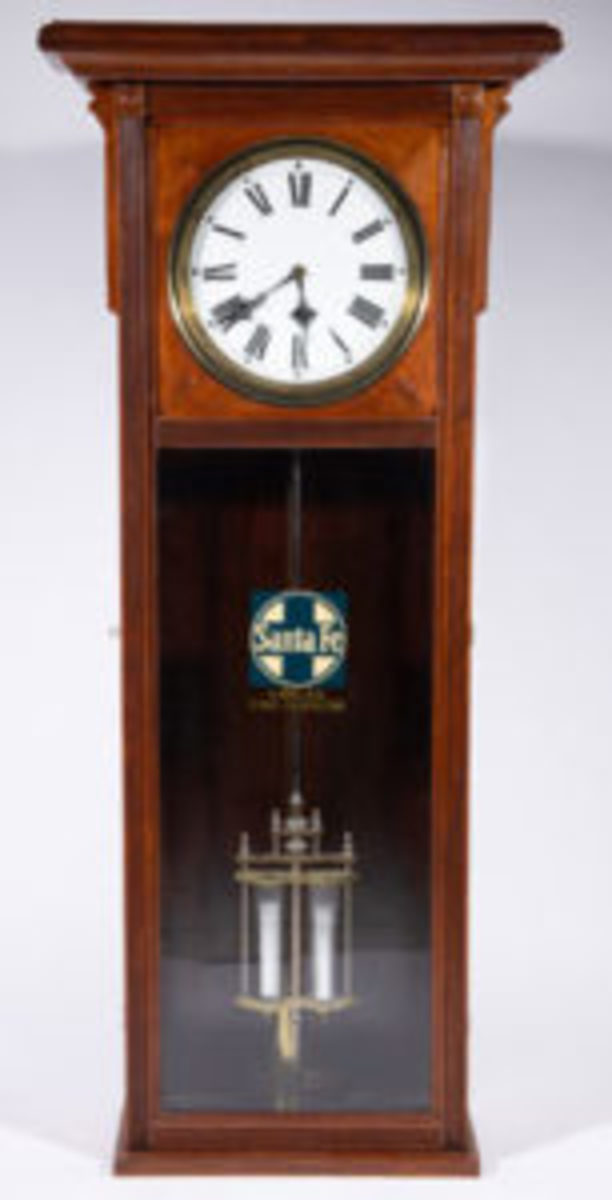 Santa Fe railroad station regulator, Lot 1576, $4,095.