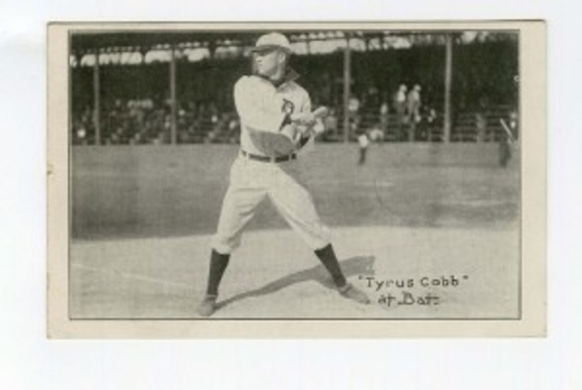 1908 Ty Cobb baseball postcard, est. $300-$600. Morphy Auctions image