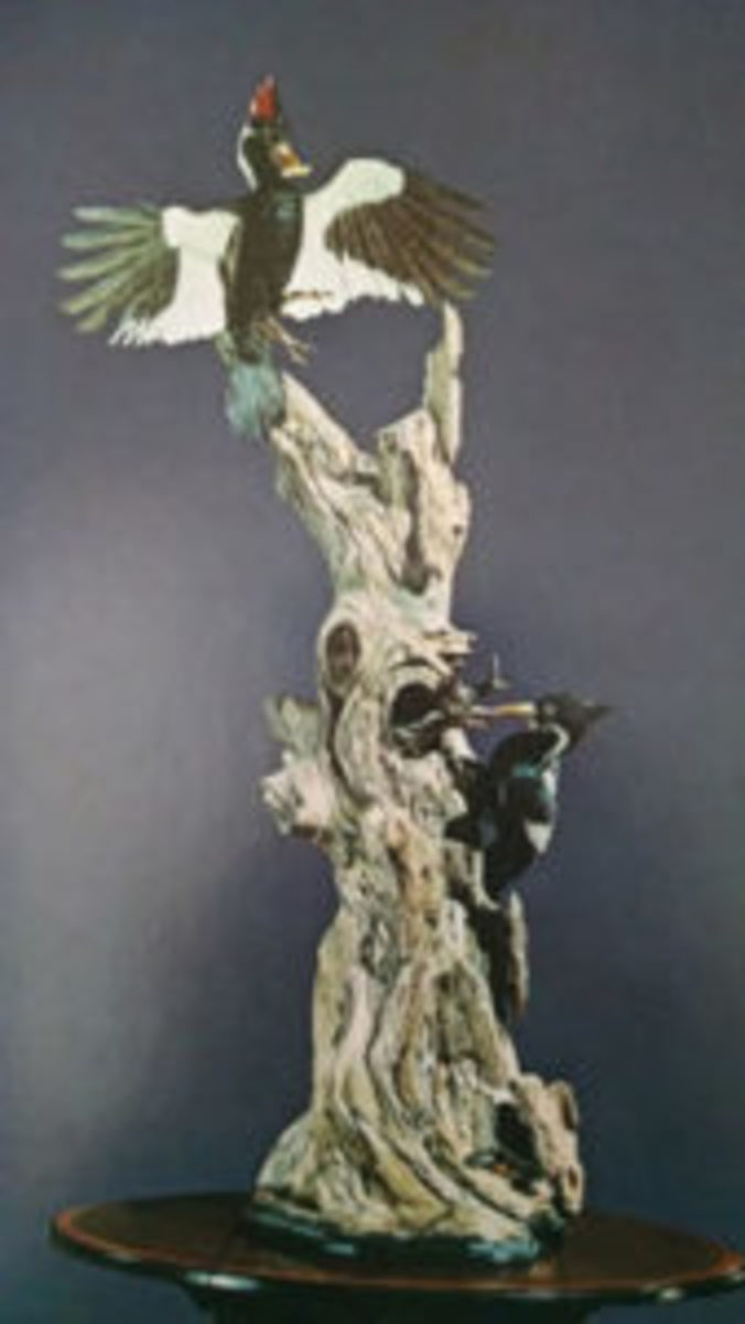 Boehm porcelain woodpeckers
