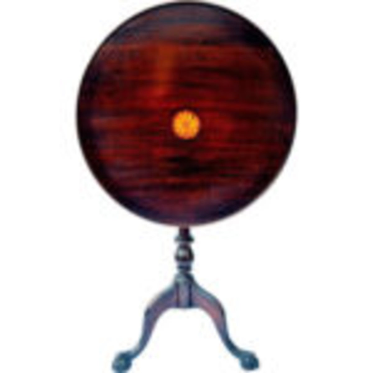 RubyLane seller The Front Porch Antiques (Woodstown, New Jersey) offers this 1930s Chippendale style tilt top tea table