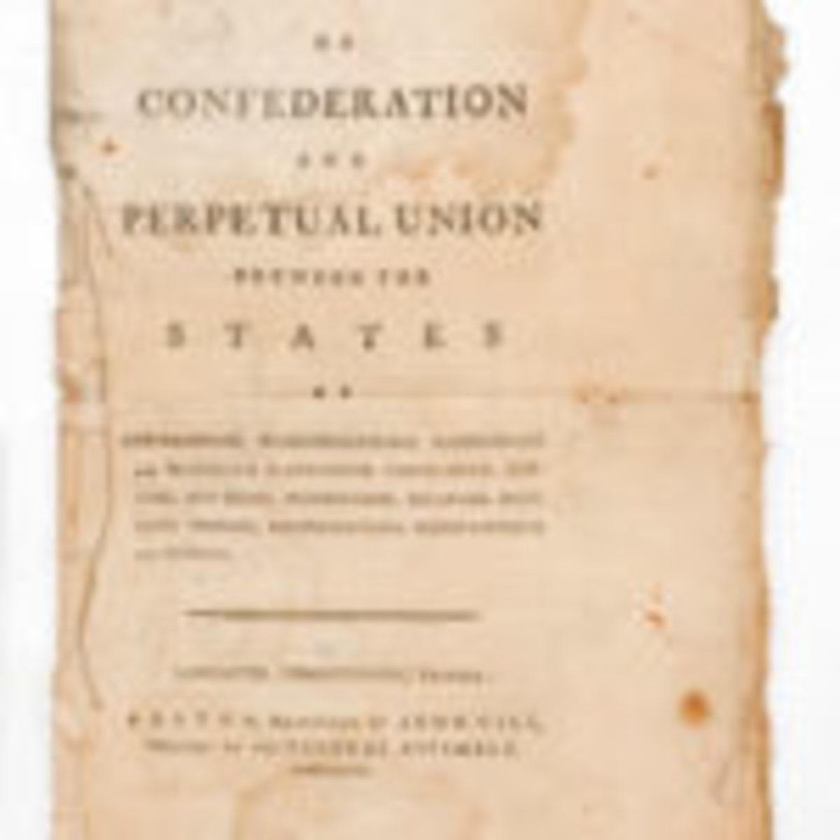 Articles of Confederation, $36,000