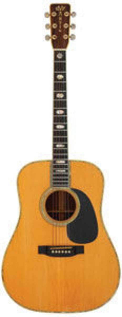 The acoustic guitar Graham Nash of Crosby, Stills and Nash, played at Woodstock, a Martin D-45, recently sold for $162,500 at Heritage Auctions. Image courtesy of Heritage Auctions