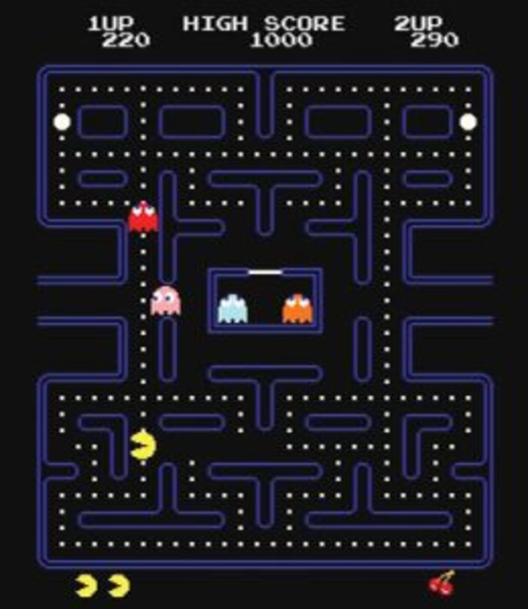 Pac-Man iconic screen.
