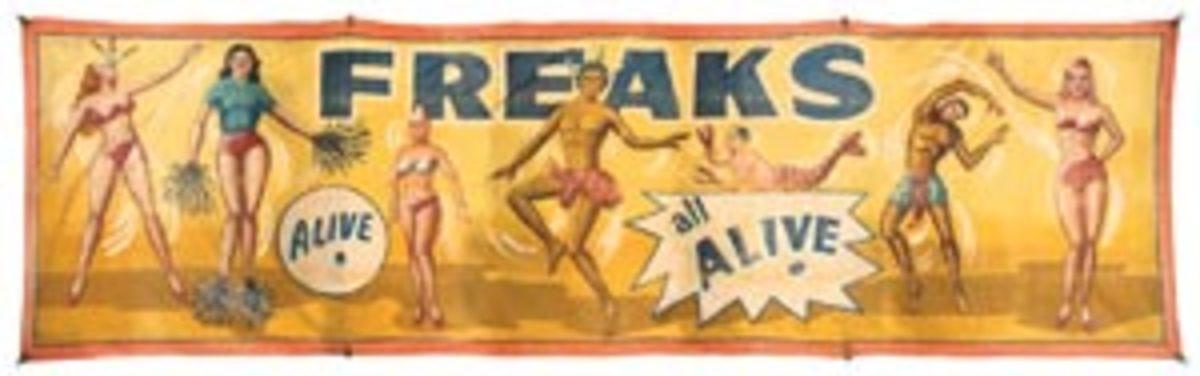 Freaks. Alive. Banner, $11,400
