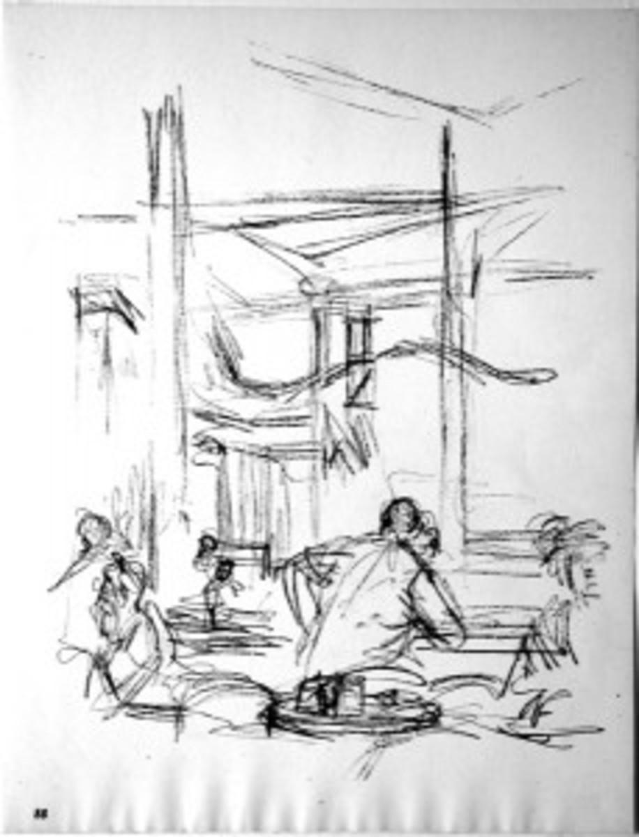 """Giacometti """"In the Bistro"""""""