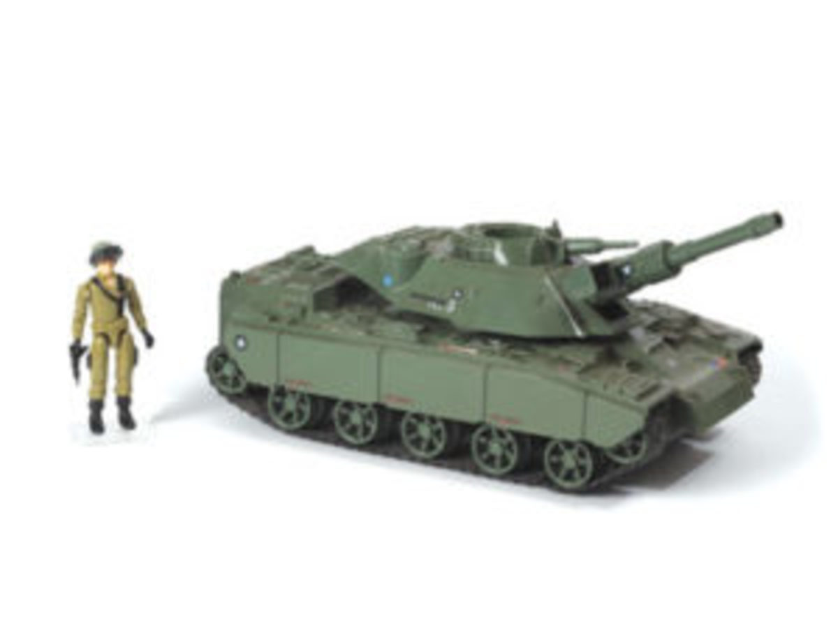 """The battery-powered MOBAT (Motorized Battle Tank), """"with super climbing ability,"""" is the main battle tank for the G.I. Joe team of 1982. The tank's detailed blueprints are equally collectible and lots of fun for collectors."""