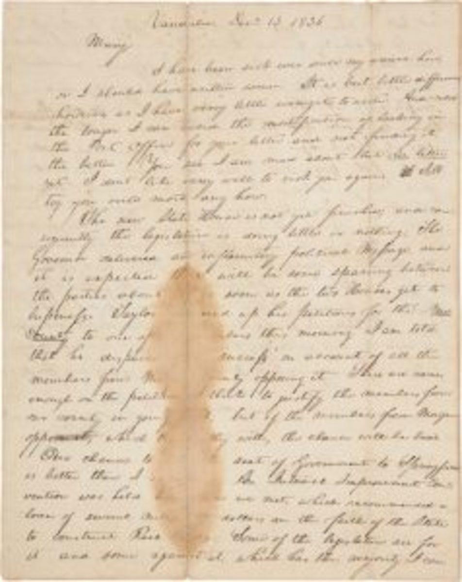 Abraham Lincoln letter