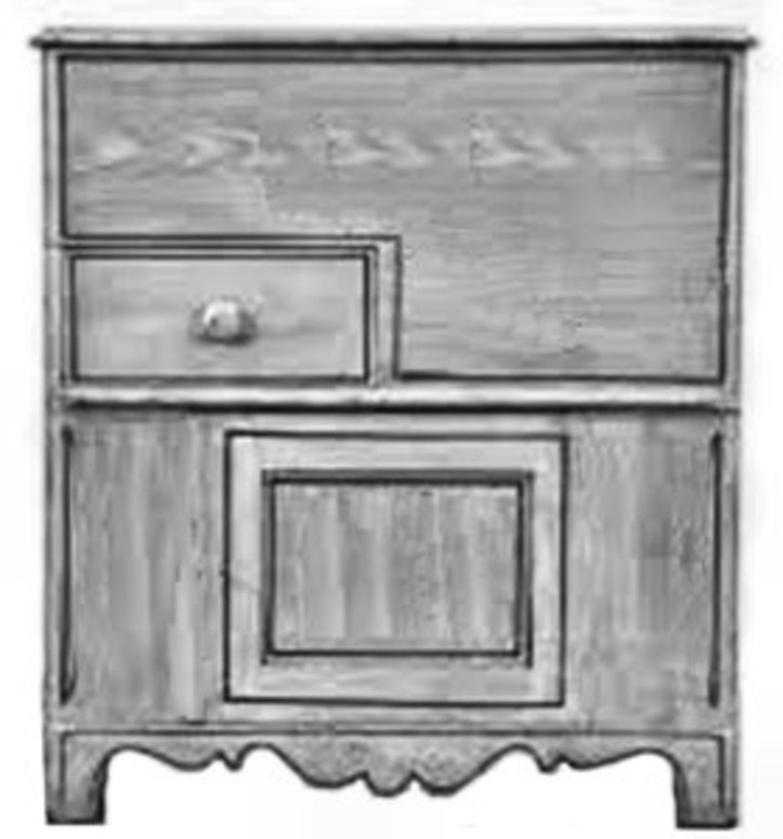 Lift-top commode