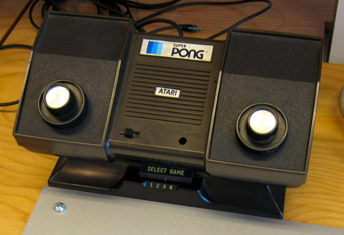 Pong game console