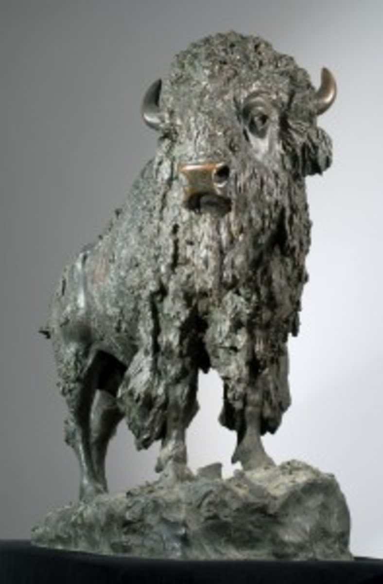 """Elk Buffalo"" sculpture"