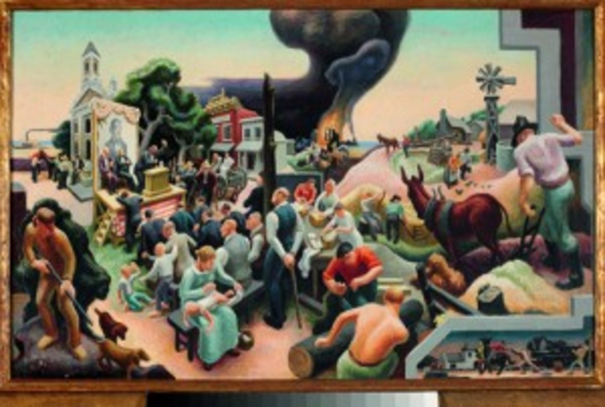 painting by Benton
