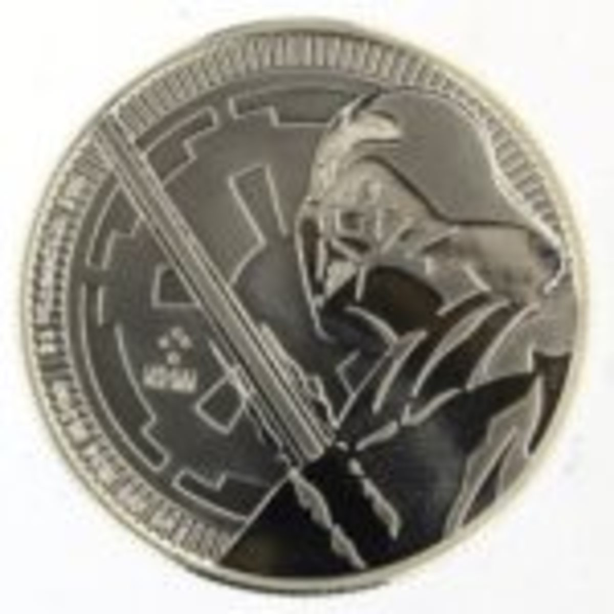 This .999 fine silver coin comes from New Zealand and is an officially licensed Star Wars bullion.