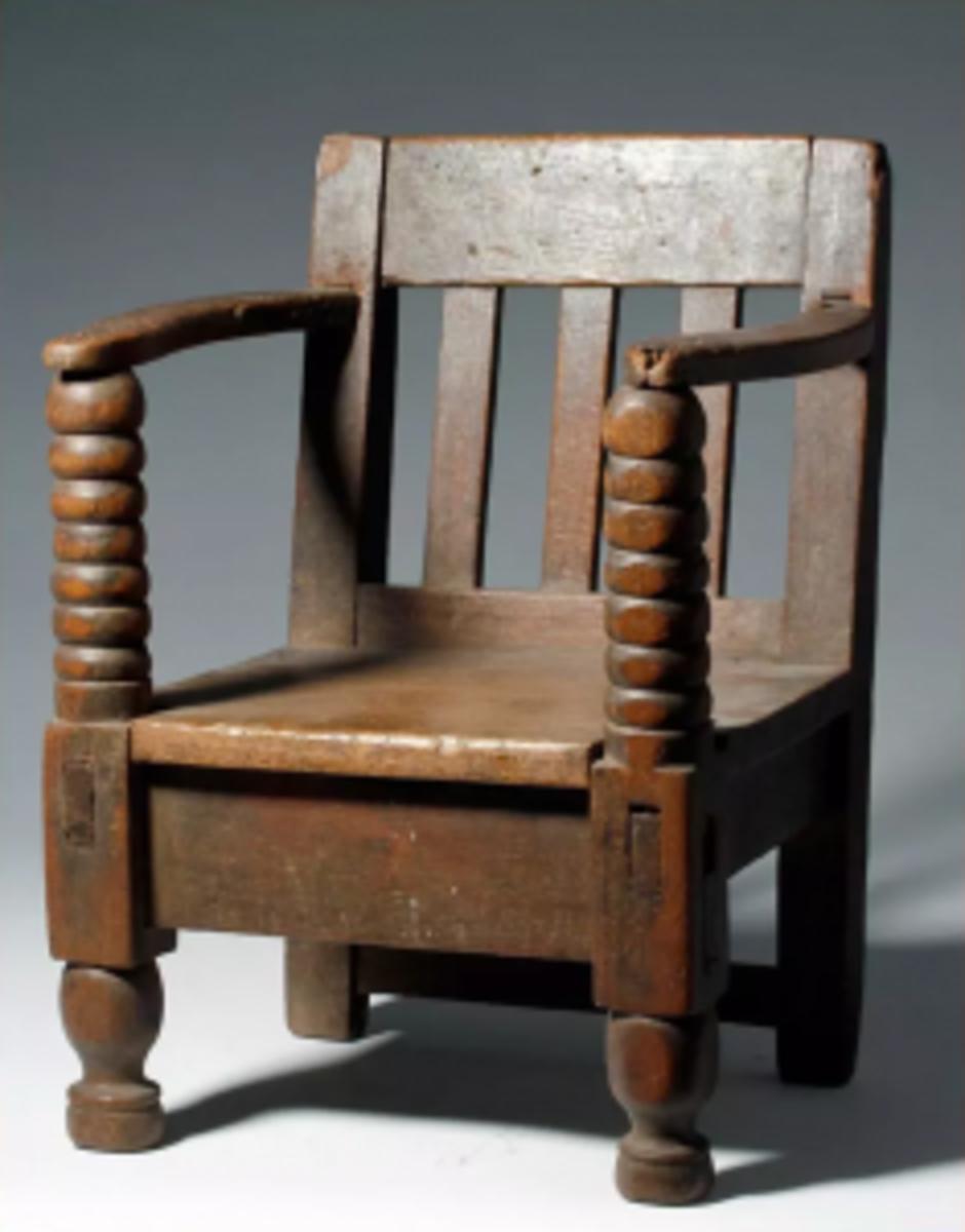 Mexican wooden children's chair