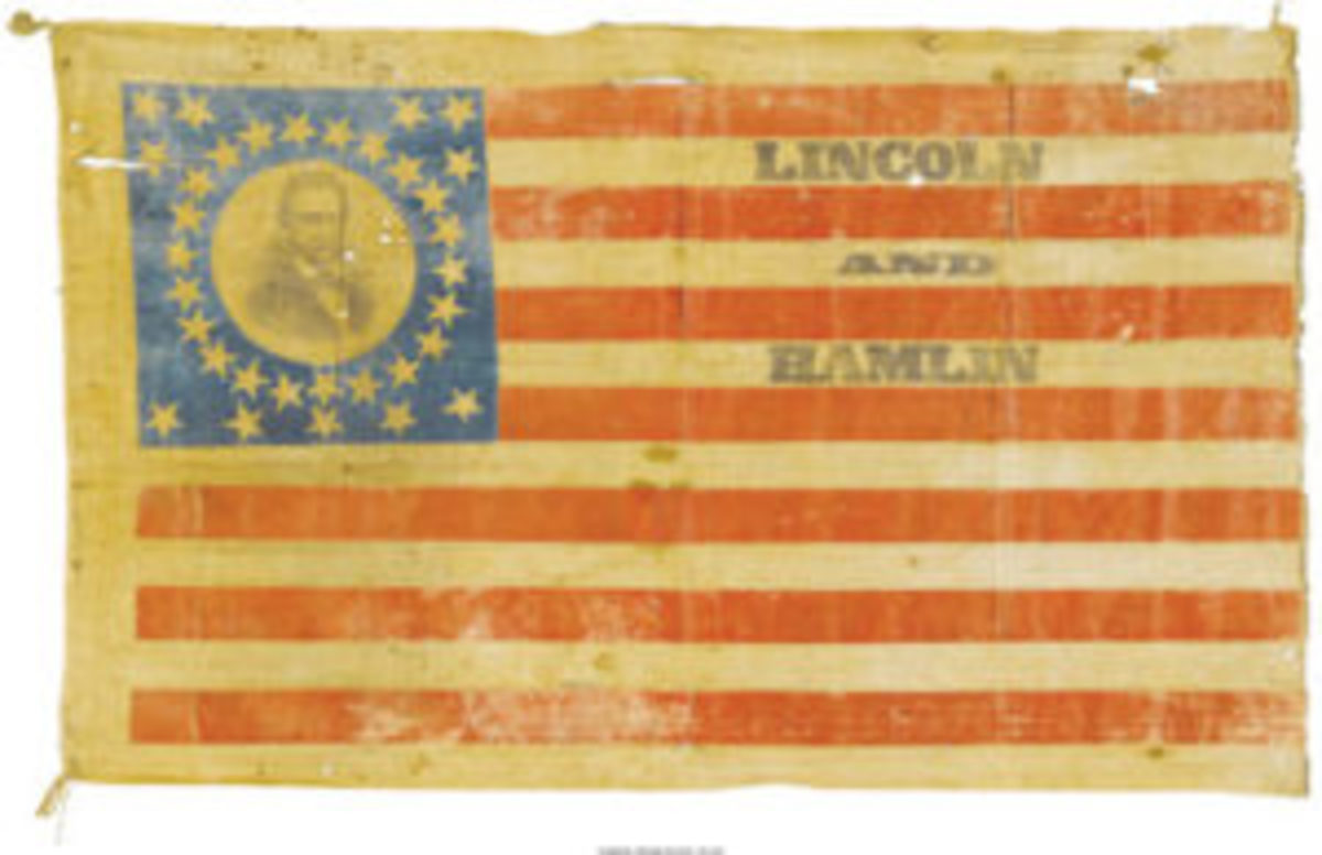 Lincoln Hamlin portrait flag