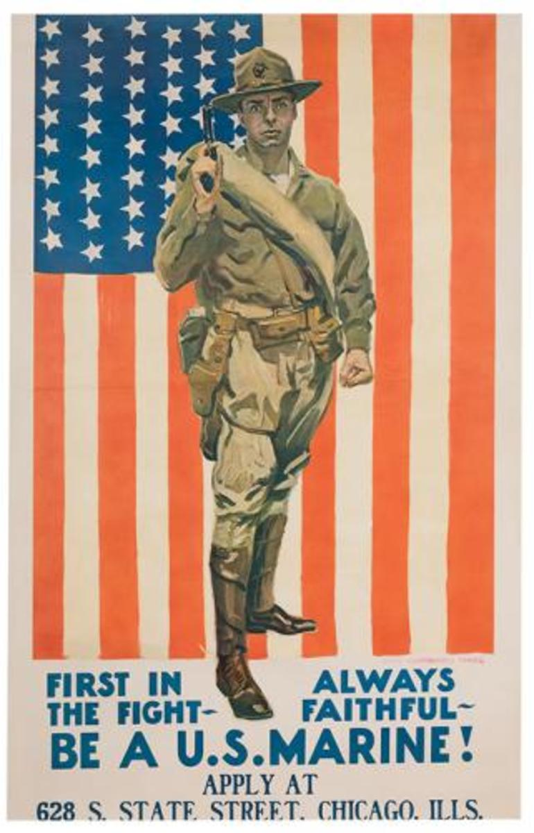 U.S. Marine poster