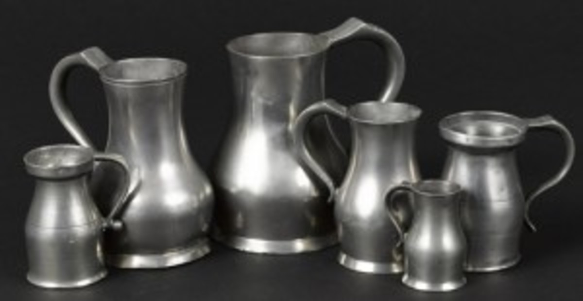 Channel Island pewter measures