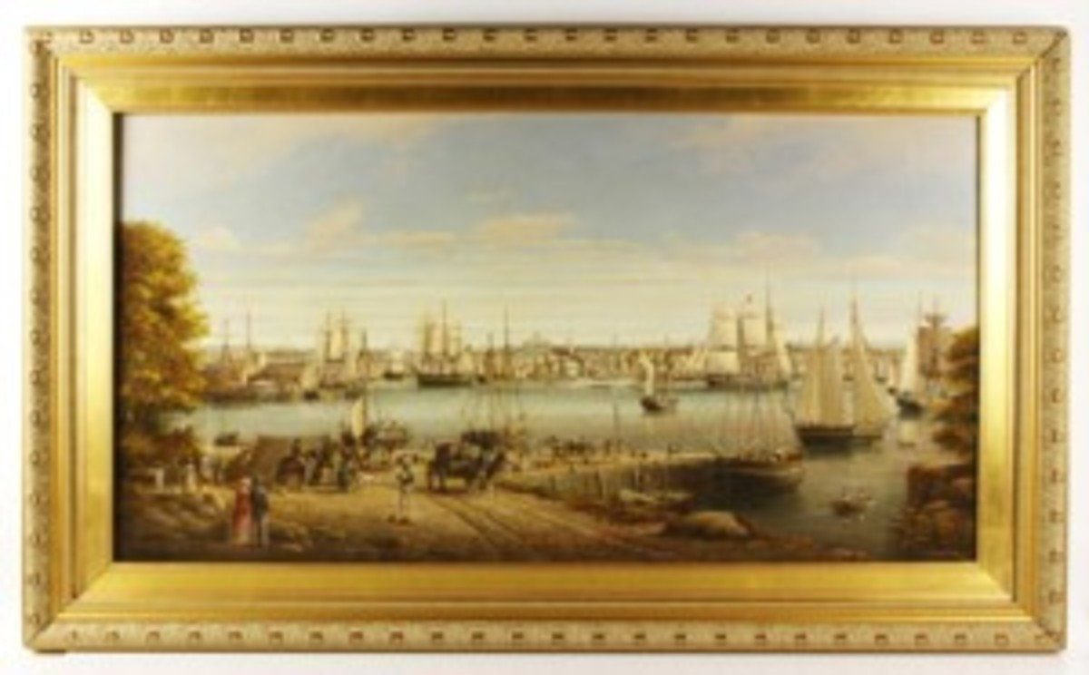 Coole Boston from Chelsea painting
